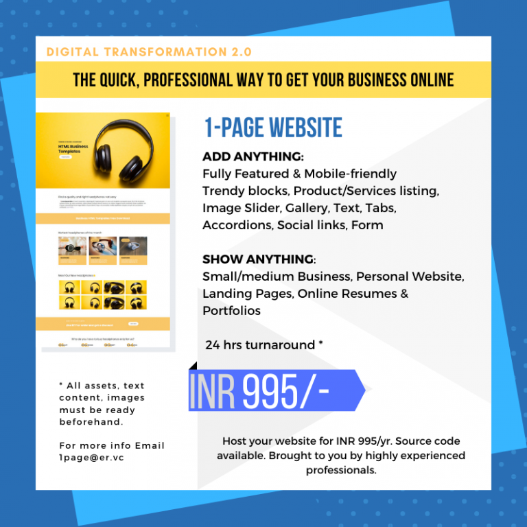 ONEPAGE OFFER